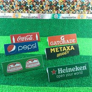 Placa de Publicidade para Mesa de Futebol de Botão - Marcas esportivas e Bebidas