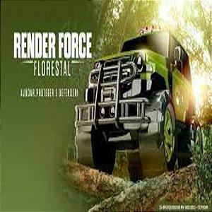 Caminhonete render force florestal Roma Brinquedos 1017