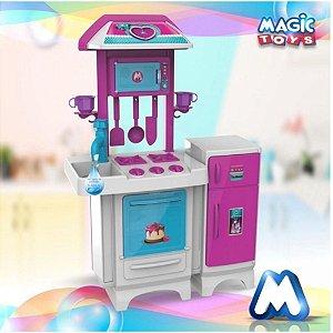 Cozinha Infantil Completa Pink com Água - 8074 Magic Toys