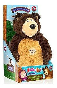 Pelúcia Urso Masha E O Urso Com Som Estrela 0022