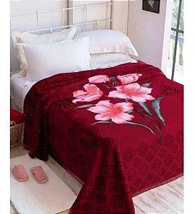 Cobertor Casal Raschel Plus Estampa Palouse - 1166