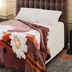 Cobertor Casal Jolitex Raschel Plus Caster Marrom 1168