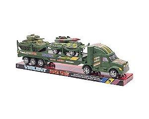 Caminhão Brinquedo Truck Militar tanque PI3948