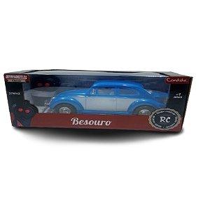 Carrinho de Controle Remoto Besouro Fusca Azul Candide 3536