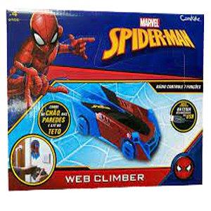 Carrinho de Controle Remoto Spider-Man Web Climber Candide
