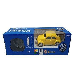 Carrinho Controle Remoto Fusca Amarelo Volkswagen Cks Vw01