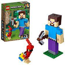 LEGO Minecraft  Grande Steve com o Papagaio