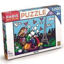 QUEBRA-CABEÇA PUZZLE 1000 ROMERO BRITTO PARIS GROW- 3746