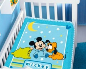 COBERTOR INFANTIL MICKEY E PLUTO SONINHO MENINO RASCHEL JOLITEX