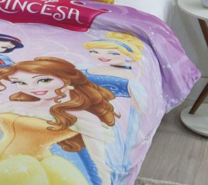 COBERTOR JUVENIL DIGITAL HD PRINCESAS DISNEY JOLITEX