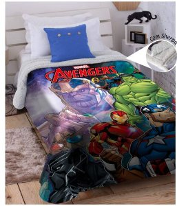 COBERTOR JUVENIL DIGITAL HD AVENGERS MARVEL JOLITEX- 3399