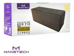 CAIXA DE SOM BLUETOOTH COM FM 5W CINZA BTs-315  MAKETECH