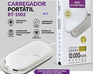 CARREGADOR PORTATIL LED COM DUAS SAÍDAS USB  MAKETECH