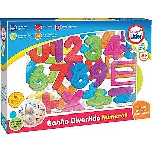 BRINQUEDO BANHO DIVERTIDO NUMEROS COM 50 PEÇAS LIDER- 5691