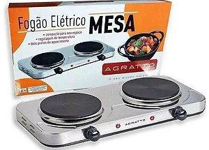 FOGÃO ELÉTRICO DE MESA COM 2 BOCAS 127V 2000W AGRATTO