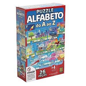 QUEBRA CABEÇA PUZZLE ALFABETO A ao Z 26 PÇS GROW- 3942