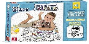TAPETE PARA COLORIR CLUB SHARK BRINCADEIRA DE CRIANÇA- 2819
