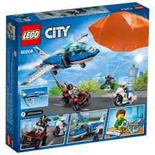 LEGO CITY  PATRULHA  AÉREA COM  PARAQUEDAS 60208