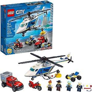 LEGO CITY PERSEGUIÇÃO POLICIAL  DE HELICÓPETRO- 60243