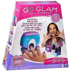 Kit Pintar Unhas E Máquina De Aplicação Go Glam Nail Stamper SUNNY