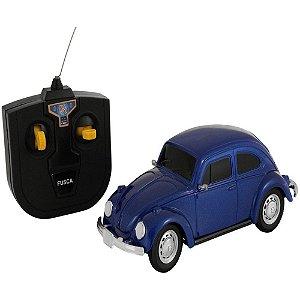 Carrinho De Controle Remoto Fusca Azul Volkswagen Cks- Vw01