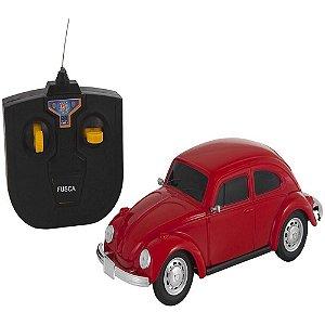 Carrinho De Controle Remoto Fusca Vermelho Volkswagen- Vw01