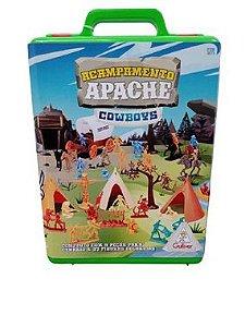 BRINQUEDO MALETA ACAMPAMENTO APACHE COWBOYS COLORIDO- 0079