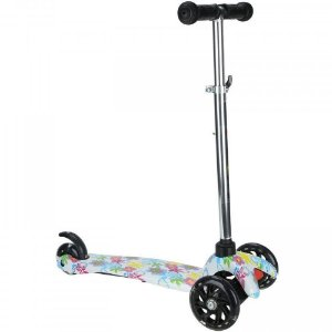 PATINETE COM 3 RODAS LED ESTAMPADO FLOWERS CKS- 01/SF