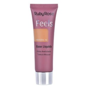 BASE LIQUIDA FEELS CAPPUCCINO 10  TEXTURA MOUSSE RUBY ROSE