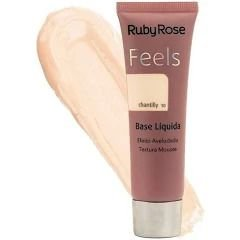 BASE LIQUIDA FEELS CHANTILLY 10  RUBY ROSE TEXTURA MOUSSE
