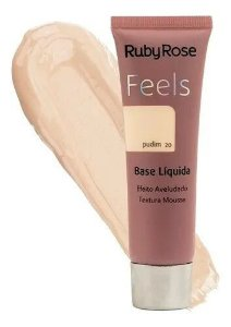 BASE LIQUIDA FEELS PUDIM 20  TEXTURA MOUSSE RUBY ROSE