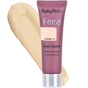 BASE LIQUIDA FEELS CASTANHA 20 TEXTURA MOUSSE RUBY ROSE
