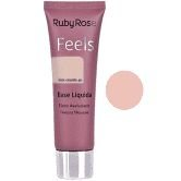 BASE LIQUIDA FEELS BEM CASADO 40 TEXTURA MOUSSE RUBY ROSE