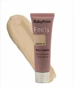 BASE LIQUIDA FEELS CARAMELO 50 TEXTURA MOUSSE RUBY ROSE