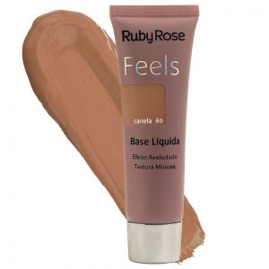 BASE LIQUIDA FEELS CANELA  60 TEXTURA MOUSSE RUBY ROSE