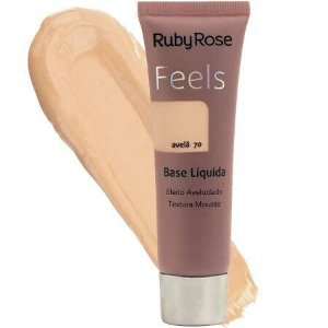 BASE LIQUIDA FEELS AVELÃ 70 TEXTURA MOUSSE RUBY ROSE