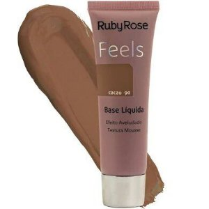 BASE LIQUIDA FEELS CACAU 90 TEXTURA MOUSSE RUBY ROSE