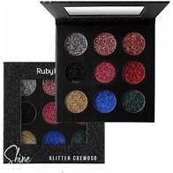 PALETA DE GLITTER CREMOSO SHINE 9 CORES  BLACK RUBY ROSE HB-8407/B