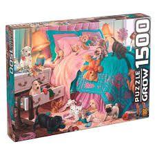 PUZZLE 1500 PEÇAS FILHOTES EM AÇÃO  GROW -  3460
