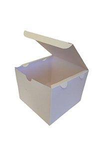 50 Embalagens Branca Hambúrguer Lanche Fritas Porções Salgados