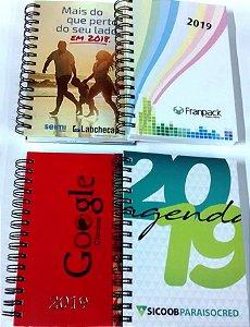 Agenda Personalizada 2020 Corporativa para Empresas Com Logotipo 50 unidades