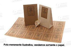 Papel Kraft A5 200gr / 200g Rústico Para Artesanato 500 Folhas