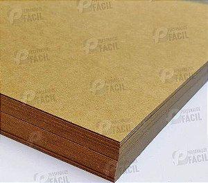 Papel Kraft 240g A5 240gr Rústico Marrom Escuro 500 Folhas 21x14,8 cm