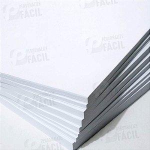 Papel Couche 90g A4  Brilho ou Fosco para impressoras laser 1.000 Folhas