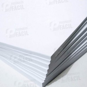Papel Couche 170g / 180g A3 Brilho ou Fosco para impressoras laser 100 Folhas