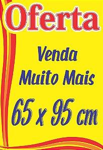 Cartaz Oferta Promoção 66x96 Amarelo P/ Supermercado 50 Un