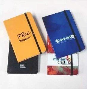 10 Cadernetas Personalizada Mini Caderno 14x21 Foto Empresa