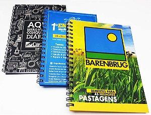 30 Cadernos Personalizados P/ Empresas Foto Logotipo 16x23