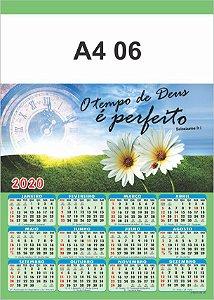 100 Calendários Folhinha  2020 S/ Personalização Bíblica