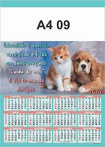 100 Calendários Folhinha  2020 S/ Personalização Animal